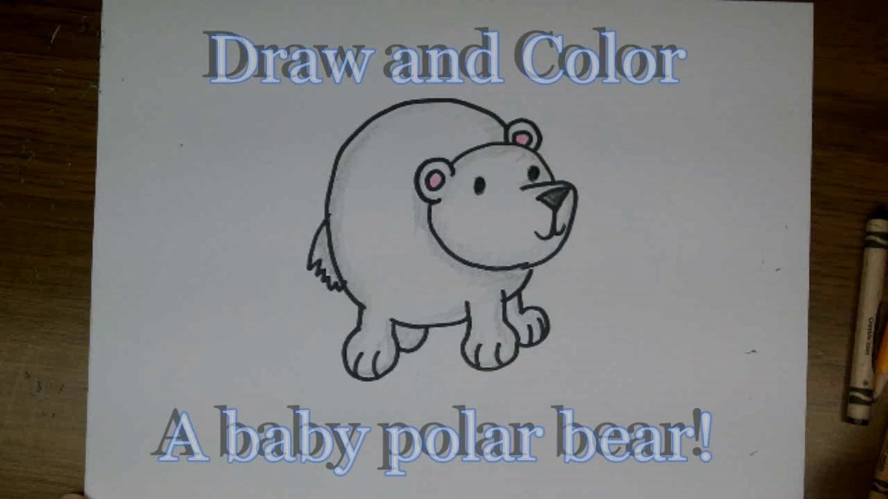 1280x720 How To Draw A Cute Cartoon Baby Polar Bear