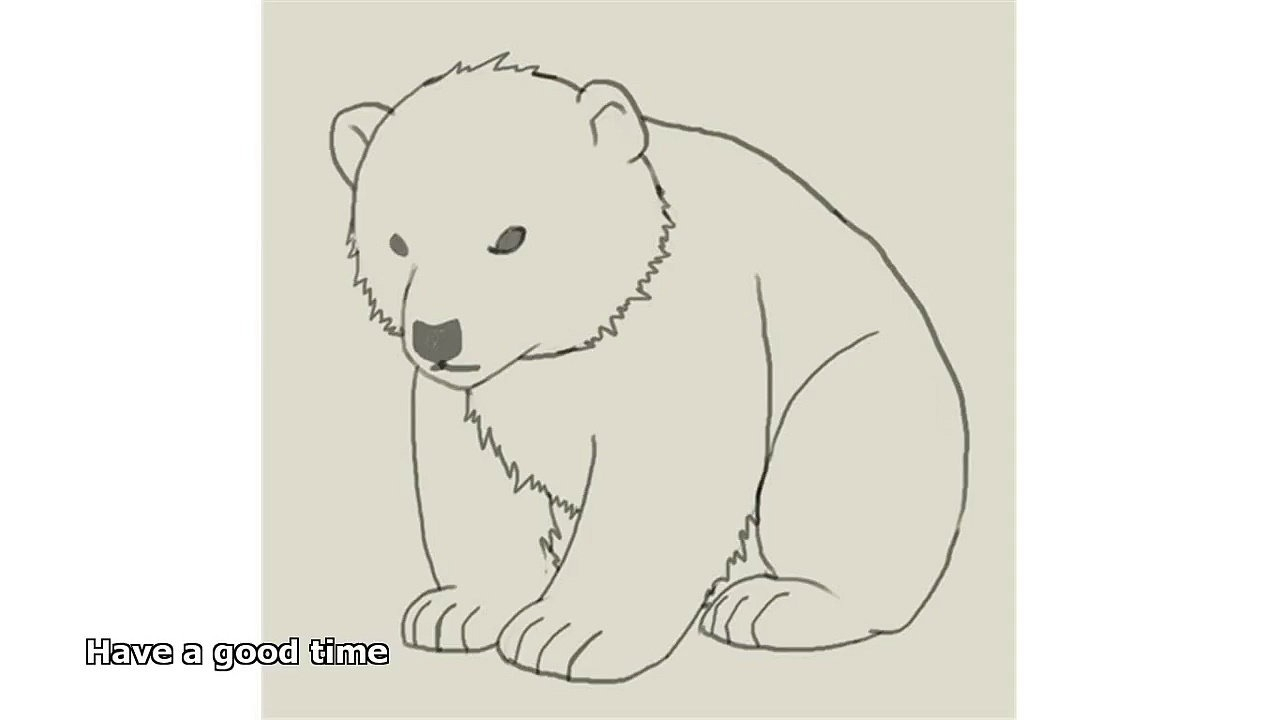 1280x720 Easy To Draw Polar Bear Draw A Polar Bear Cub, Polar Bears