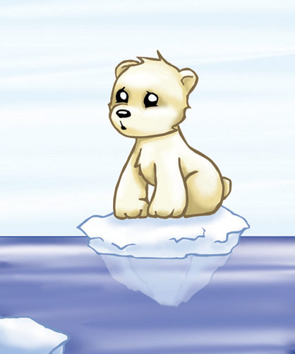 418x500 Baby Polar Bear By Kit Kat Choco