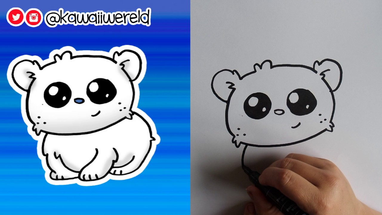 1280x720 How To Draw A Baby Polar Bear Cute Amp Easy