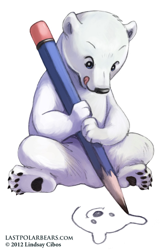529x809 Polar Bear Drawing By Lcibos
