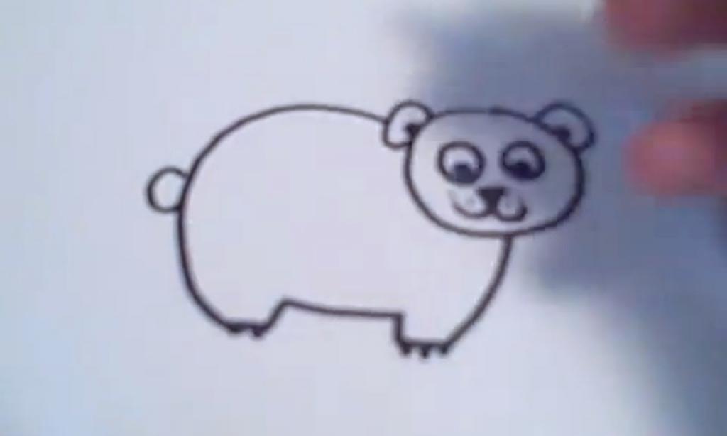 1024x614 Easy Bear Drawing How To Draw A Cartoon Polar Bear Youtube