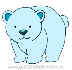 250x243 How To Draw A Cartoon Polar Bear Cub Drawing Lesson