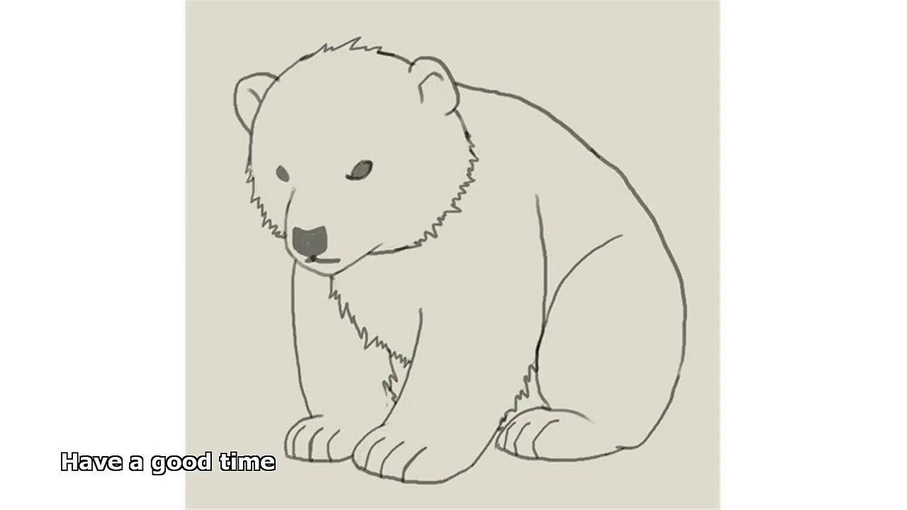 1280x720 Polar Bear Drawings