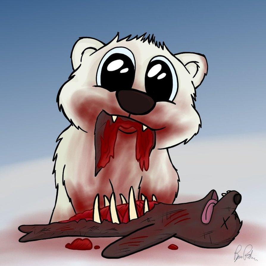 894x894 Cute Killer Polar Bear By Petirep