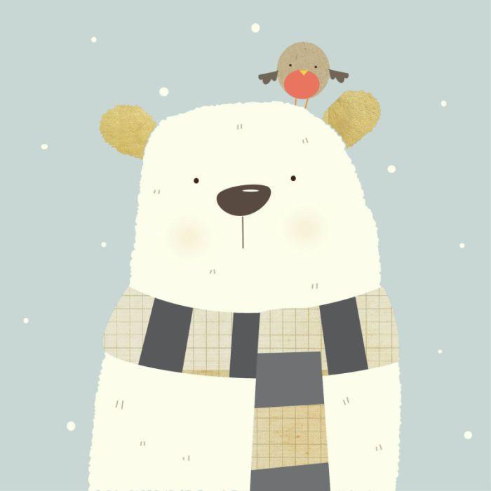 700x700 Christmas Polar Bear Drawings