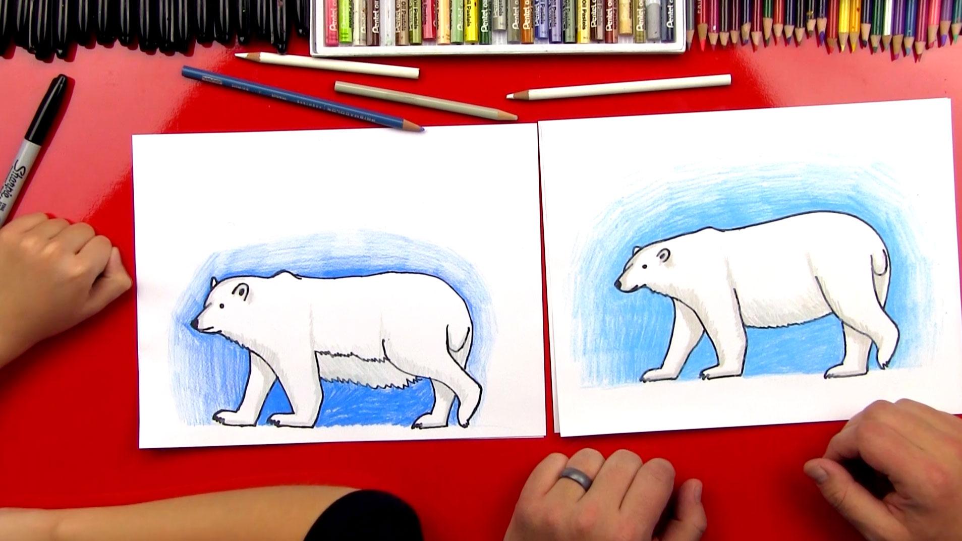 1907x1073 How To Draw A Polar Bear (Realistic)