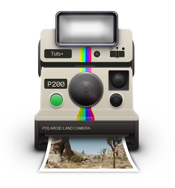 557x599 How To Draw A Vintage Polaroid Camera Icon