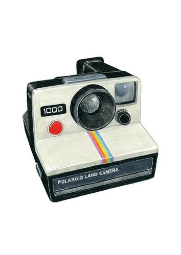 354x500 Polaroid Camera Drawing Polaroid, Cameras And Illustrations