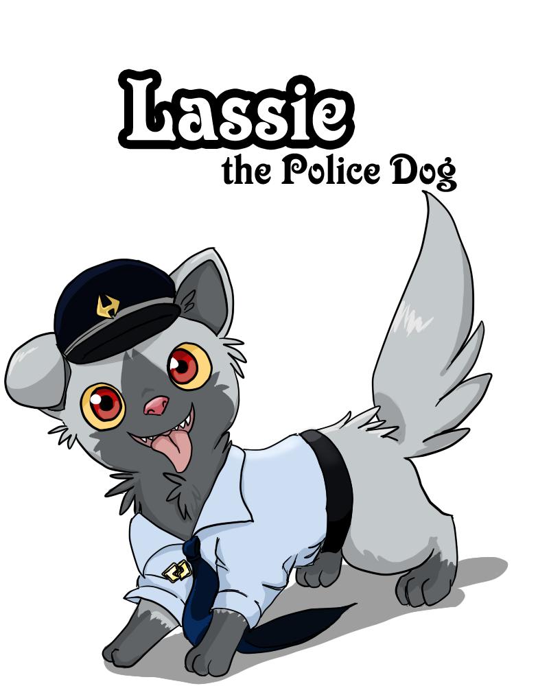 800x1000 Lassie The Police Dog By Yamikaisu