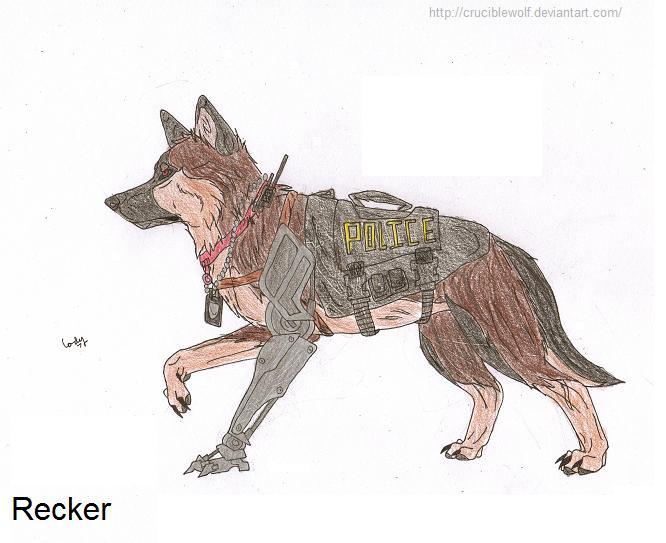 666x543 Police K9 Recker By Cruciblewolf