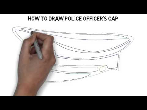 480x360 How To Draw Police Officer's Cap