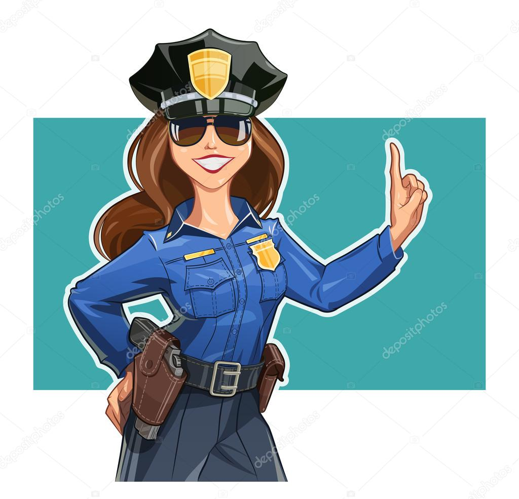 1024x985 Beautiful Girl Police Officer In Uniform Stock Vector