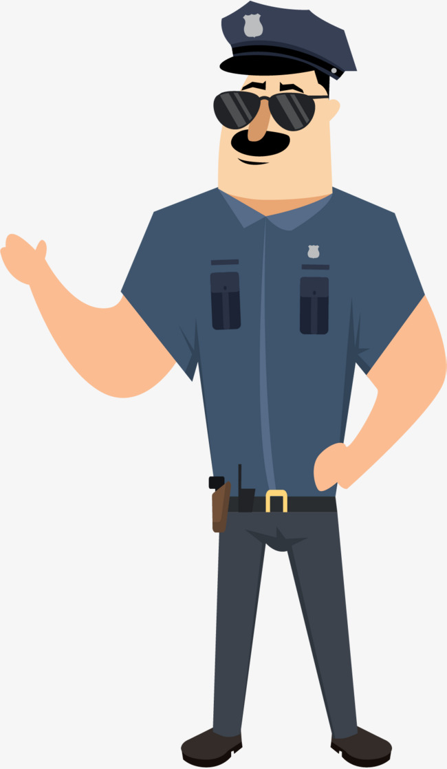 how to draw a policeman easy