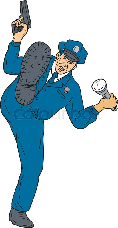 413x800 Drawing Sketch Style Illustration Of A Policeman Police Officer