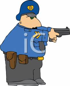 245x300 Police Officer Drawing His Gun
