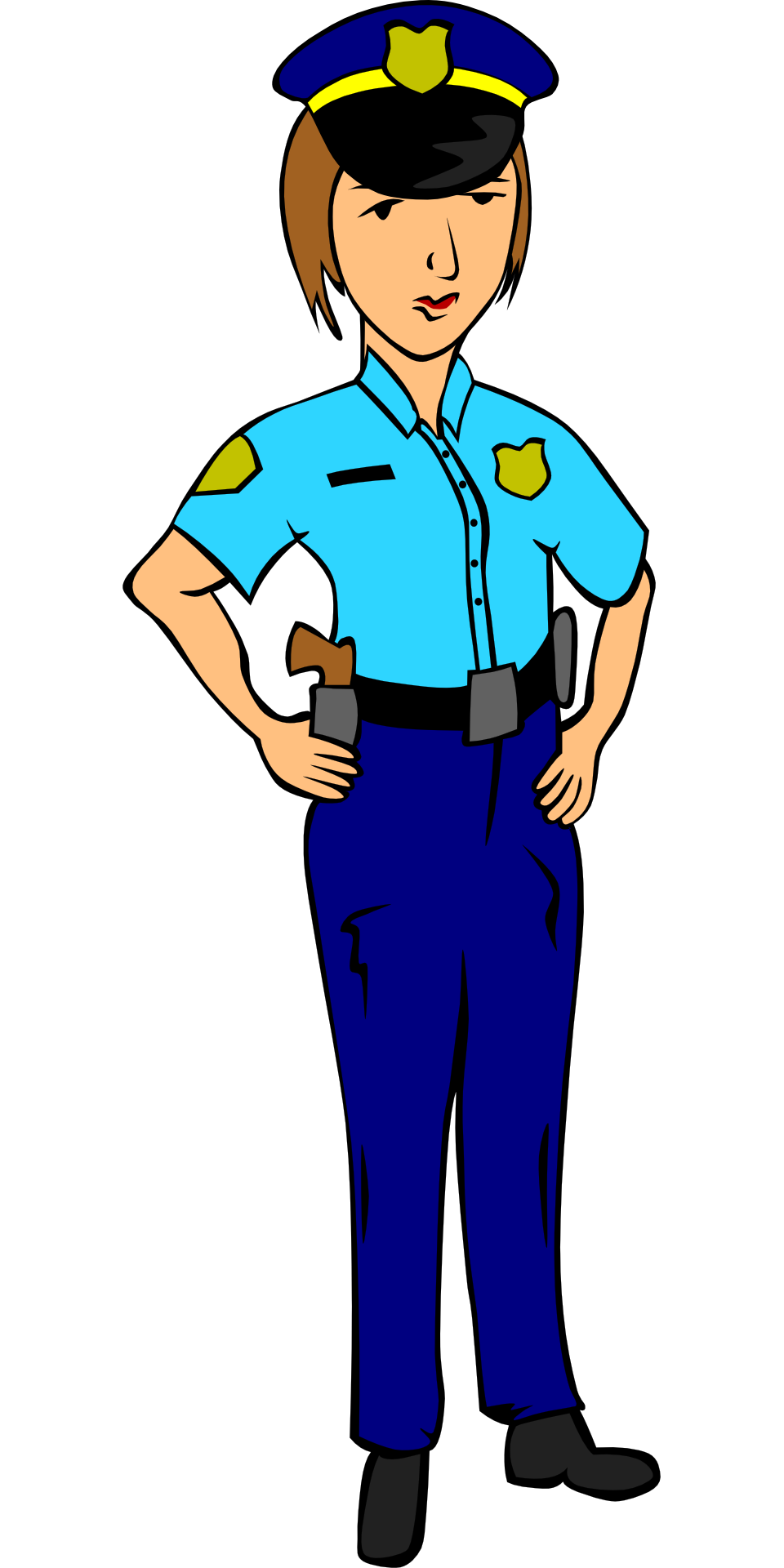 960x1920 Police Officer Uniform Woman Drawing Free Image