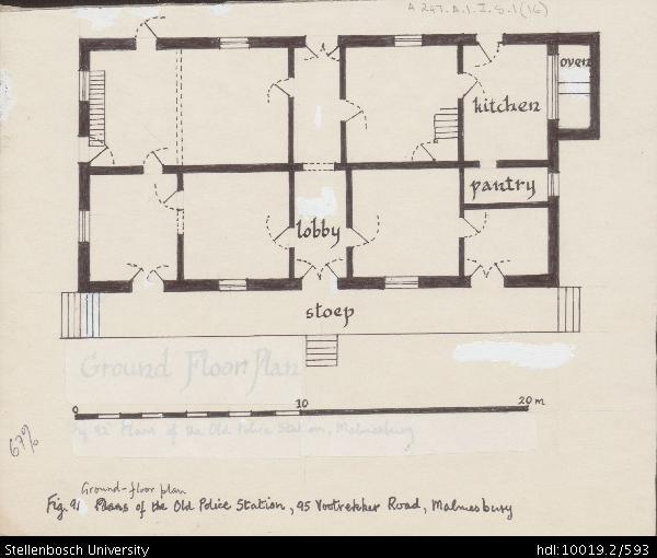 600x510 Ground Floor Plan Of The Old Police Station, 95 Voortrekker Road