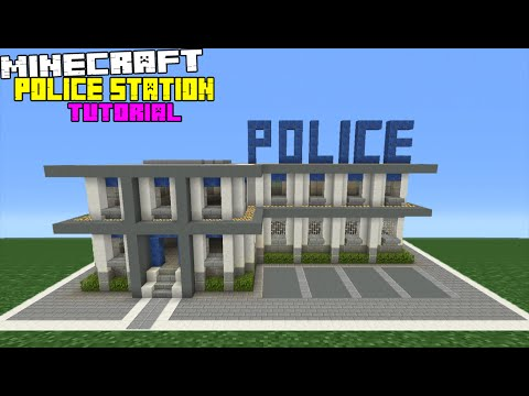 480x360 Minecraft Tutorial How To Make A Police Station