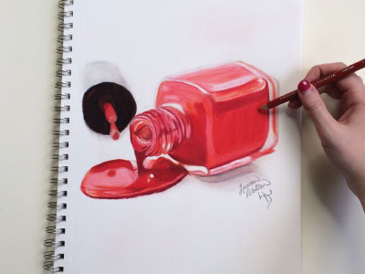 400x300 Nail Polish Drawing By Lauren Stanley