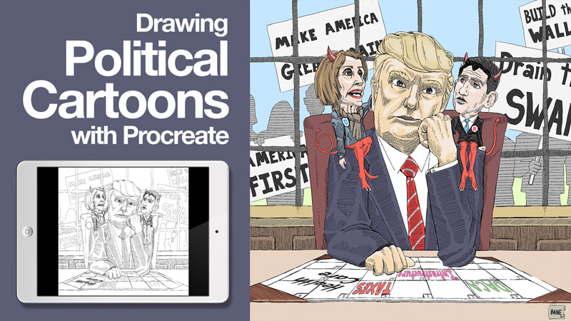 800x450 Drawing Political Cartoons Using Procreate Start To Finish
