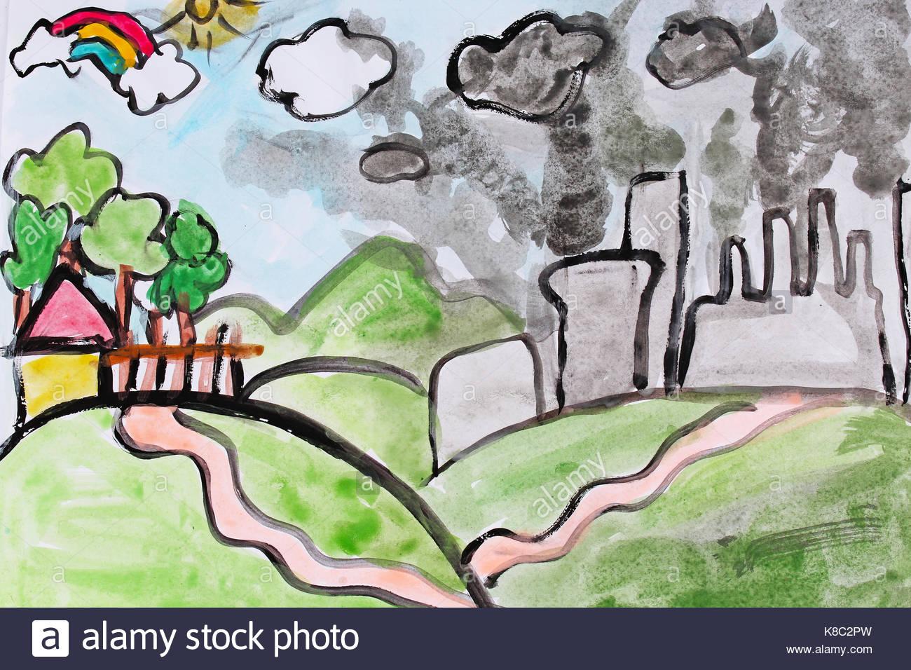 Pollution Drawing at G...