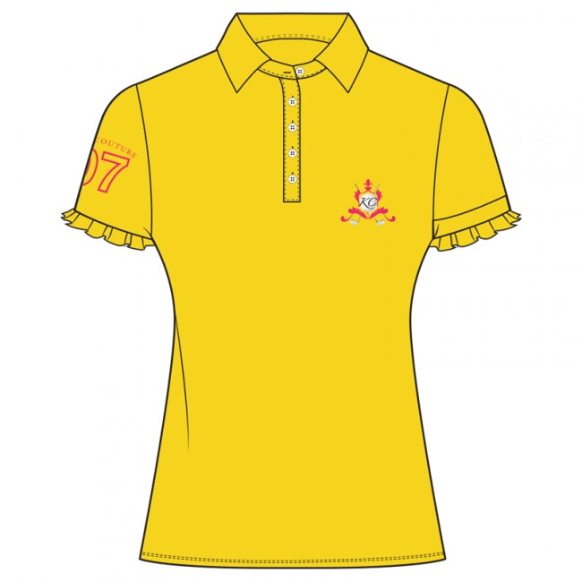 650x650 Kissi Couture Girls Yellow Golf Shirt Shop Junior Golf