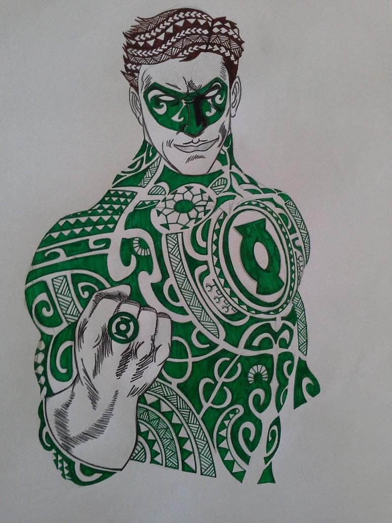 774x1032 Green Lantern Polynesian Style By Anatar97133