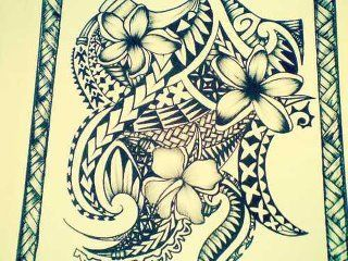320x240 Polynesian Drawing For A Tattoo