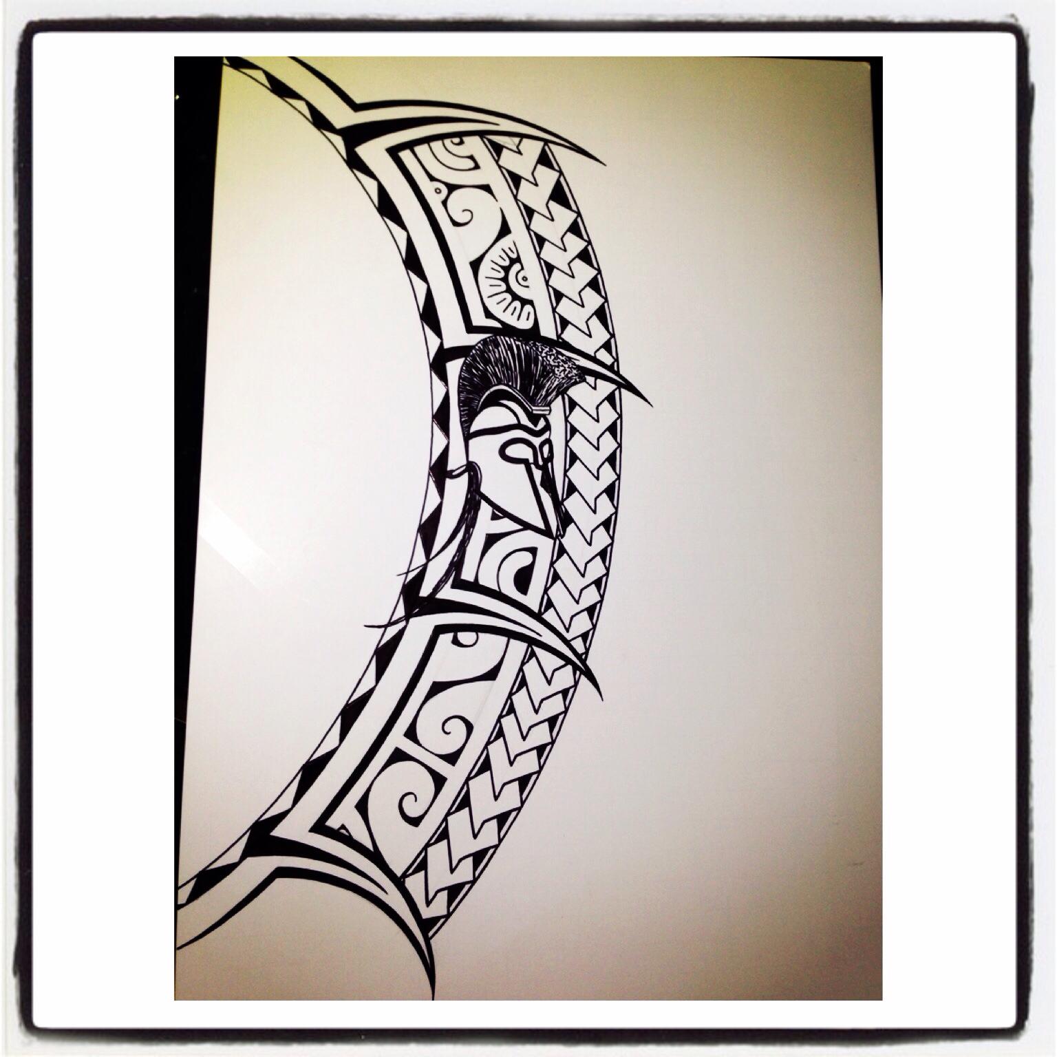 1536x1536 Polynesian Tattoo Drawing. Spartan Inspired!! Tattoo Drawings