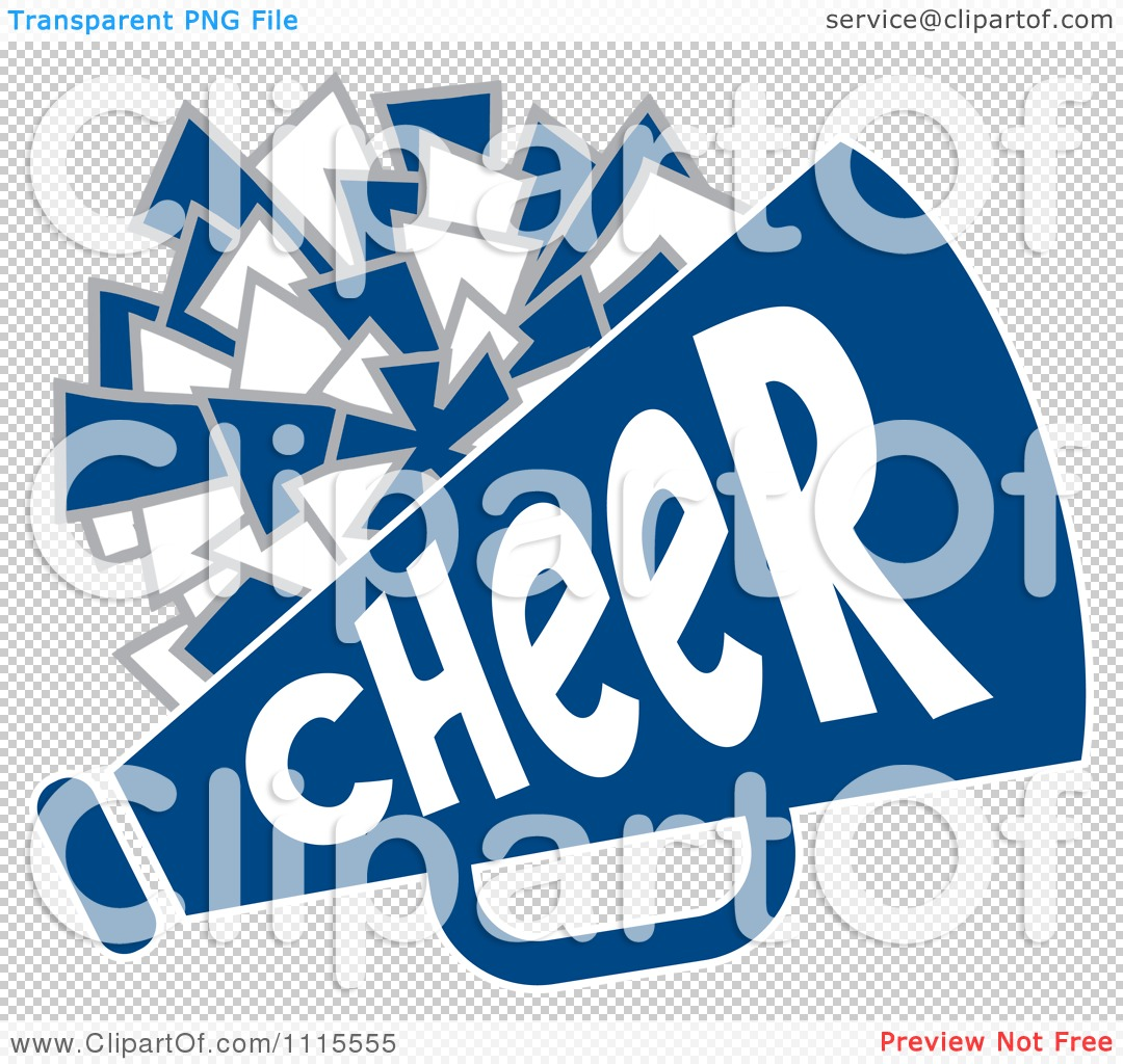 1080x1024 Clipart Cheerleader Pom Pom And Megaphone In Blue Tones