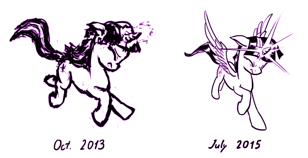 1024x525 A Year's Progress In Drawing Ponies By Hunternif