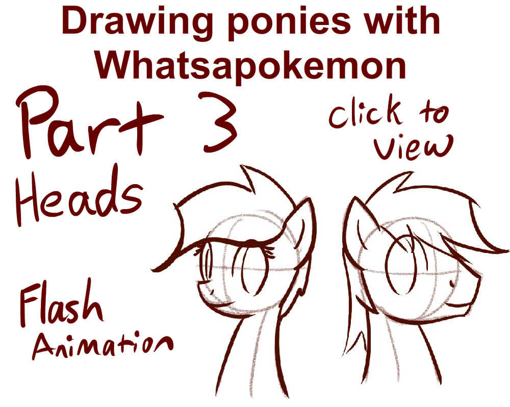 1000x798 Drawing Ponies With Whatsapokemon, Heads By Whatsapokemon