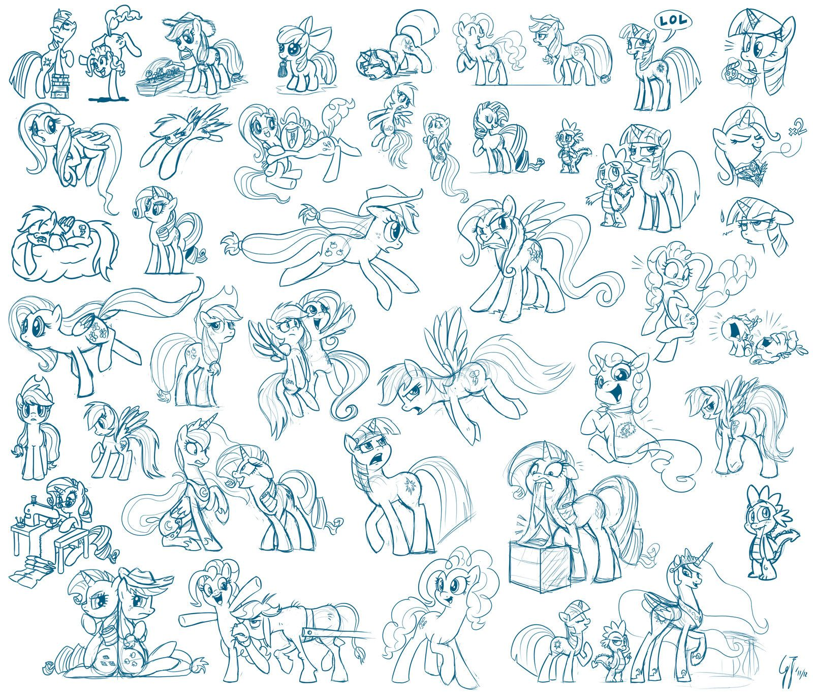 1600x1371 Just Drawing Ponies By