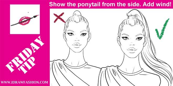660x330 How To Draw A Ponytail I Draw Fashion