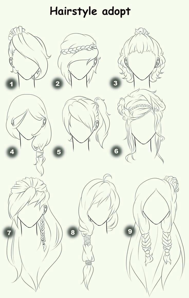 736x1159 Tag How To Draw Anime Girl Hair Ponytail