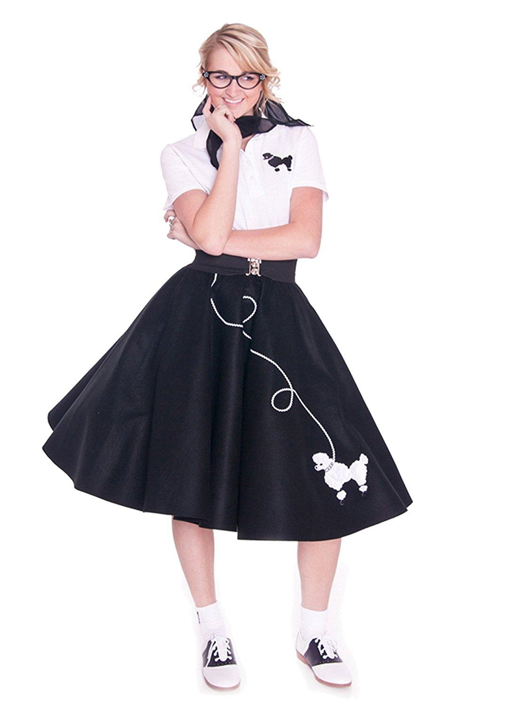 1087x1500 Hip Hop 50s Shop Adult Poodle Skirt Clothing