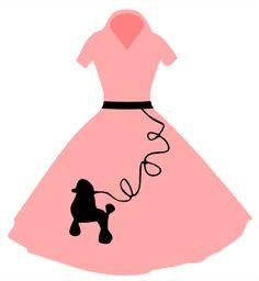 236x256 Poodle Skirt Clipart