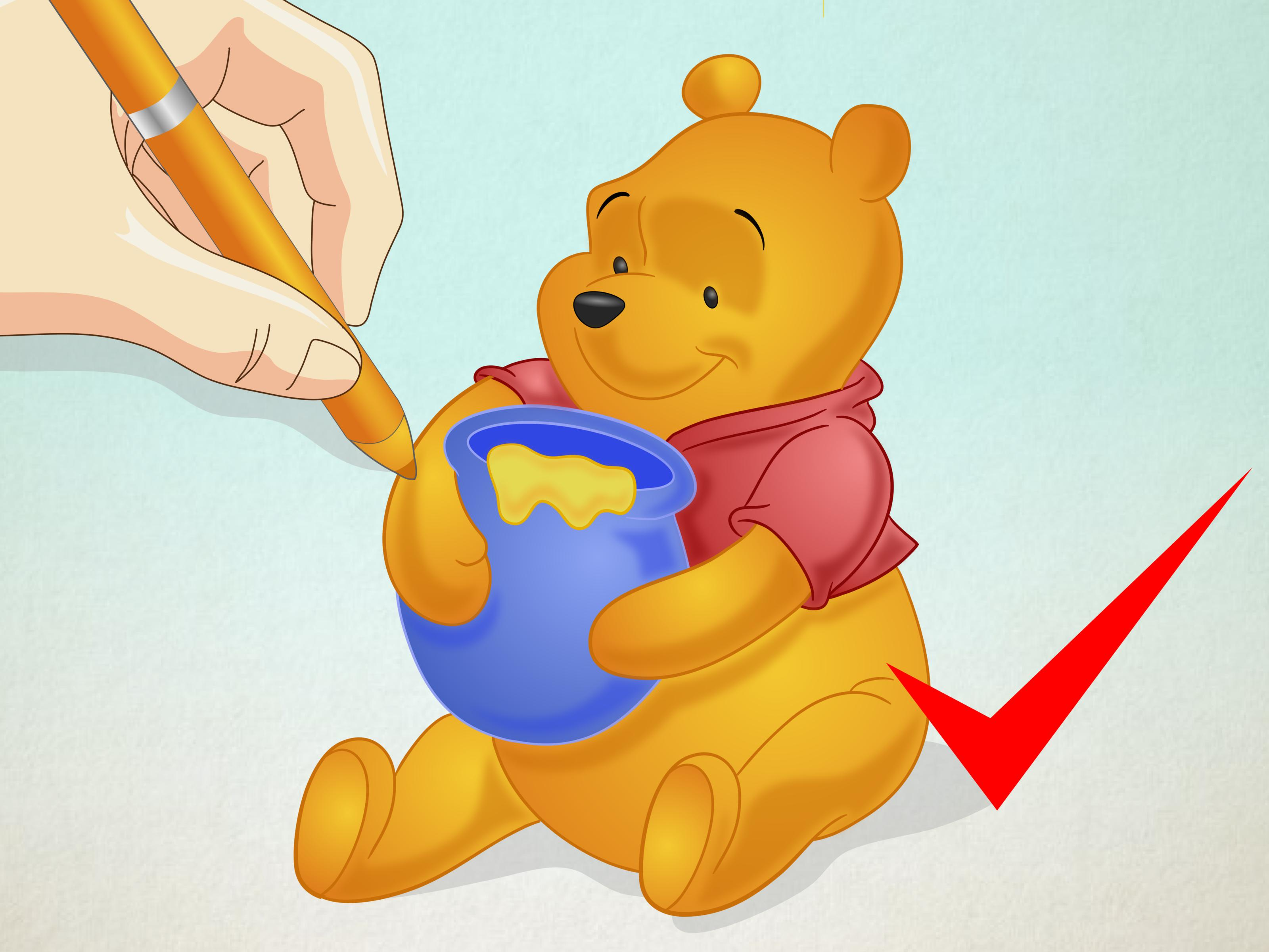 3200x2400 How To Draw Winnie The Pooh 15 Steps (With Pictures)