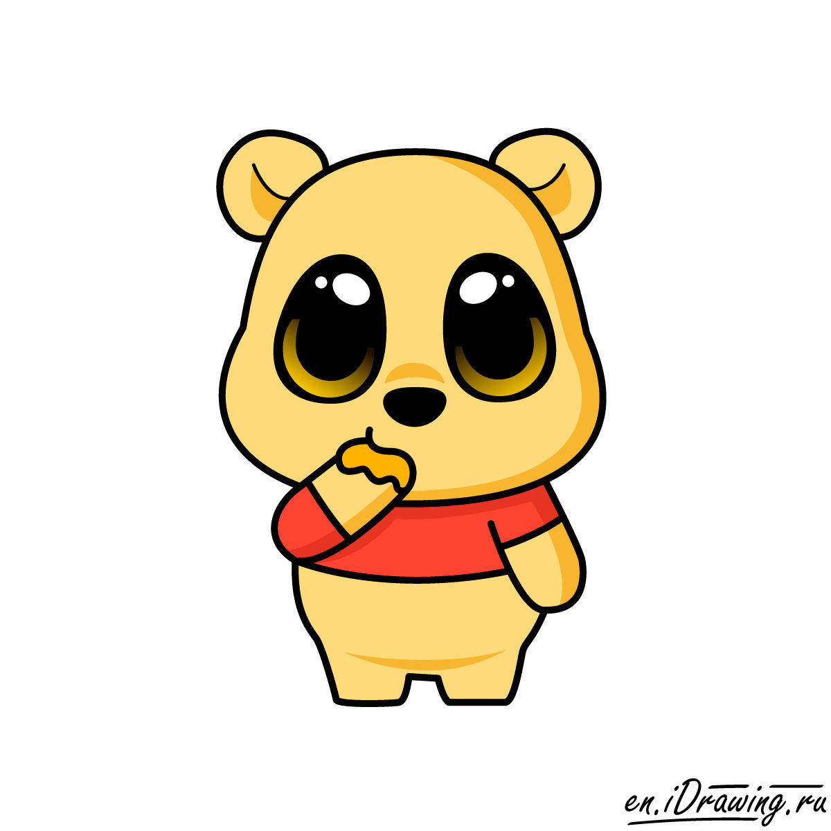 1200x1200 How To Draw Pooh Bear Chibi Style