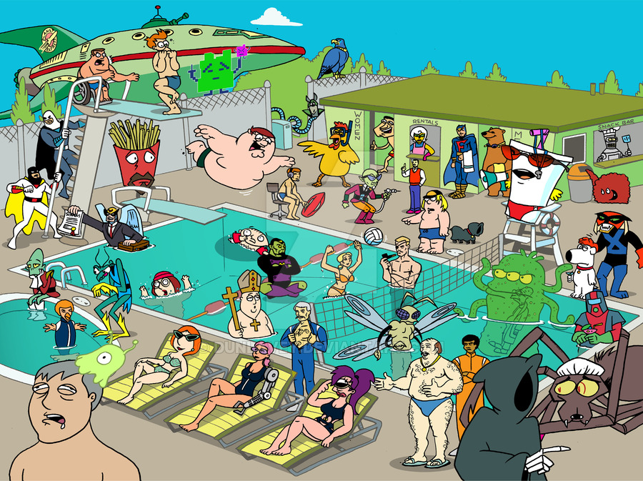 900x673 Adult Swim Pool Party By Dunlavey On Artz