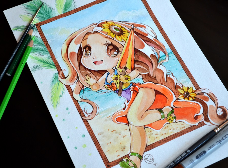 900x665 Chibi Pool Party Leona By Lighane On Draw