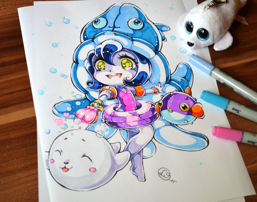 1000x788 Chibi Pool Party Lulu By Lighane On Cute Chibis