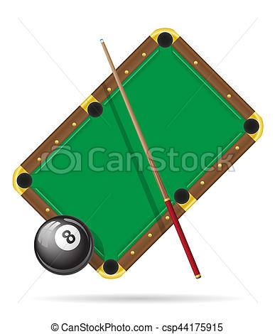 387x470 Billiards Pool Table Illustration Isolated On White Clipart