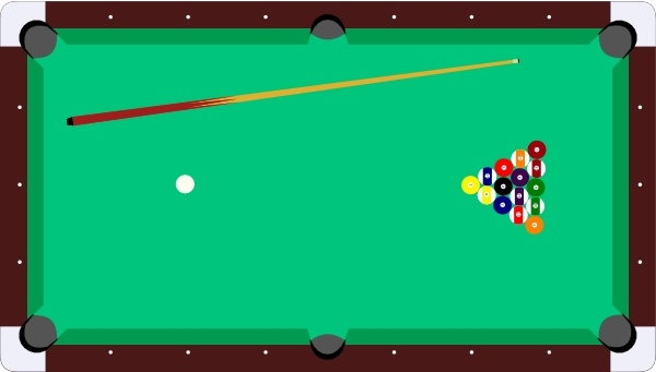 600x341 Scheibej Pool Table Cue Balls Clip Art Free Vector In Open Office