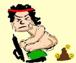300x250 Rambo Poop Emoji