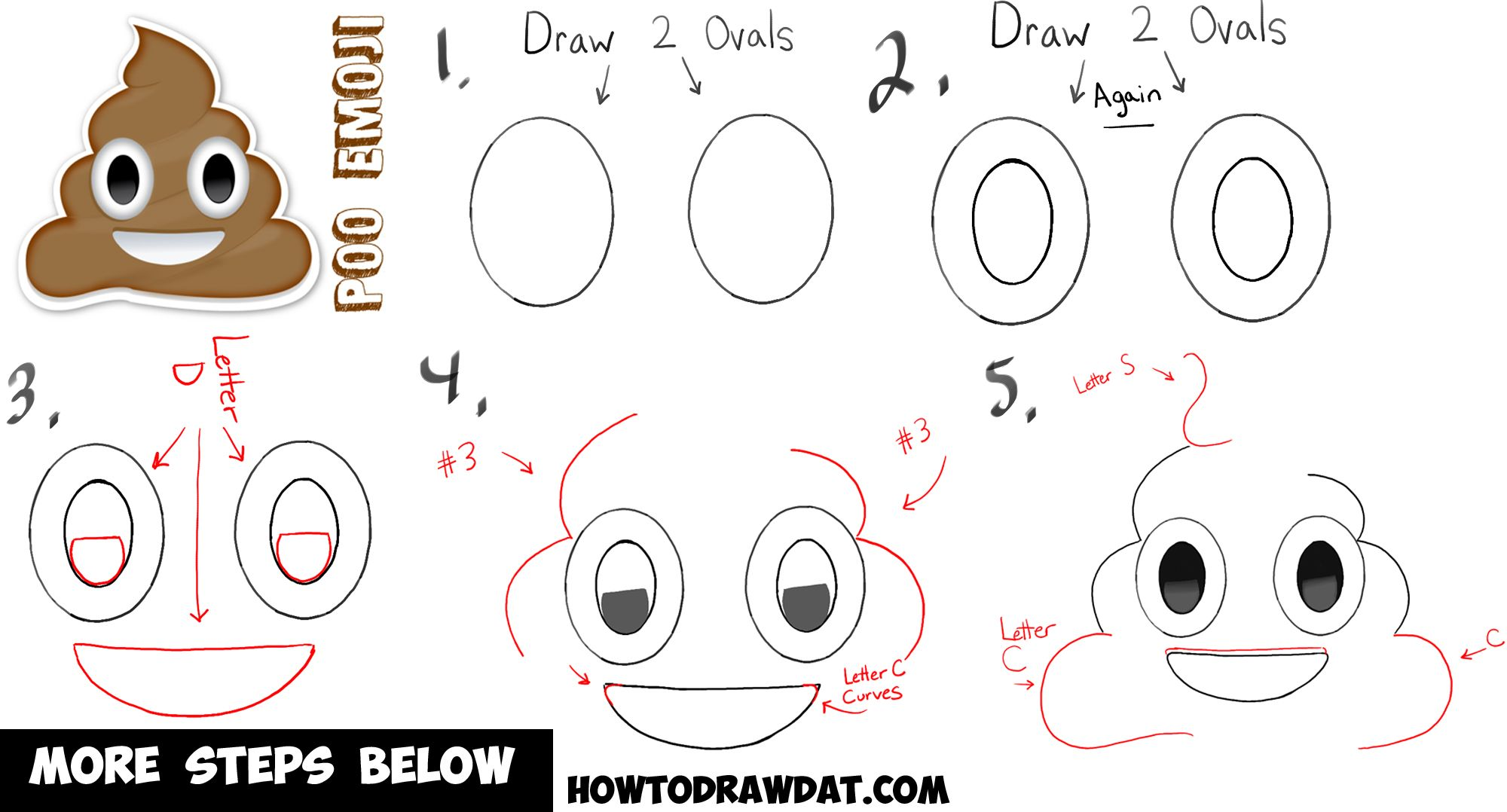 2000x1078 How To Draw Poop Emoji In Simple Steps For Kids How To Draw