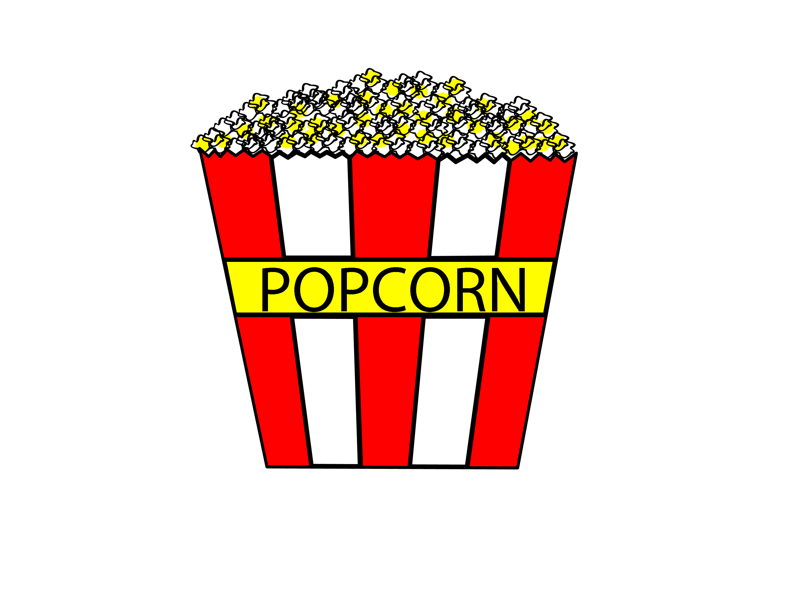3200x2400 How To Draw Cartoon Popcorn 9 Steps (With Pictures)