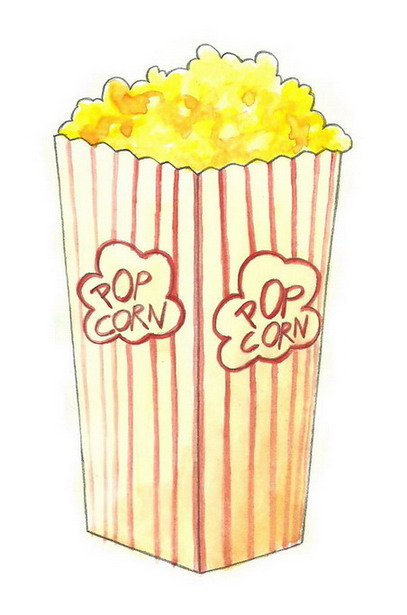 407x615 How To Draw Popcorn 5 Steps (With Pictures)