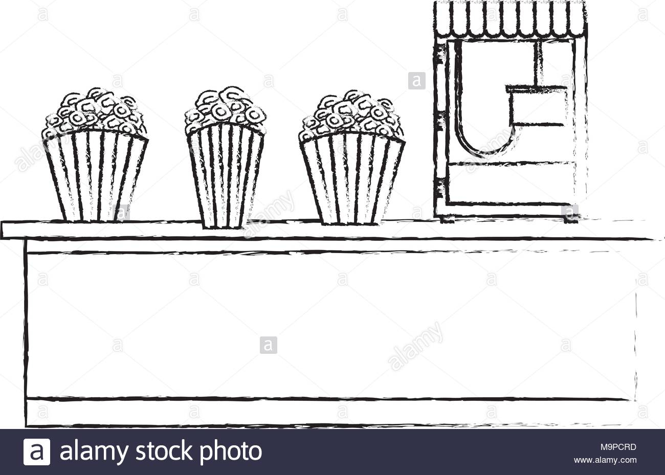 Popcorn Machine Drawing At Free For Personal Use Cr4 Thread Proper Way Of Wiring 8pin 120ac Volts Coil Relay 1300x929 Stock Photos Amp Images